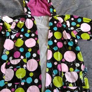 Other - Raincoat Black Polka Dots